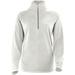 White Sierra Alpha Beta Fleece Shirt - Zip Neck, Long Sleeve (For Women) in Cloud