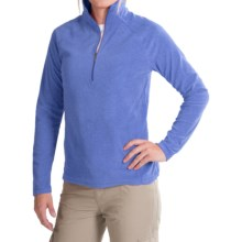 White Sierra Alpha Beta Fleece Shirt - Zip Neck, Long Sleeve (For Women) in Ice Blue - Closeouts