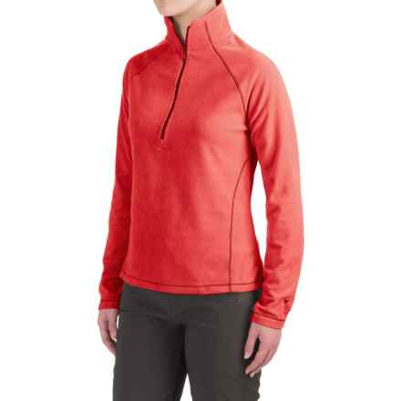 White Sierra Alpha Beta Fleece Shirt - Zip Neck, Long Sleeve (For Women) in Molten Lava - Closeouts