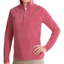 White Sierra Alpha Beta Fleece Shirt - Zip Neck, Long Sleeve (For Women) in Rose Bud - Closeouts