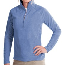 White Sierra Alpha Beta Pullover - Zip Neck, Long Sleeve (For Women) in Classic Blue - Closeouts