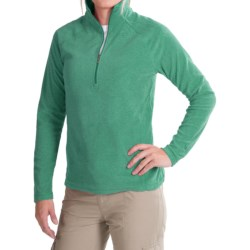 White Sierra Alpha Beta Shirt - Zip Neck, Long Sleeve (For Women) in Mint