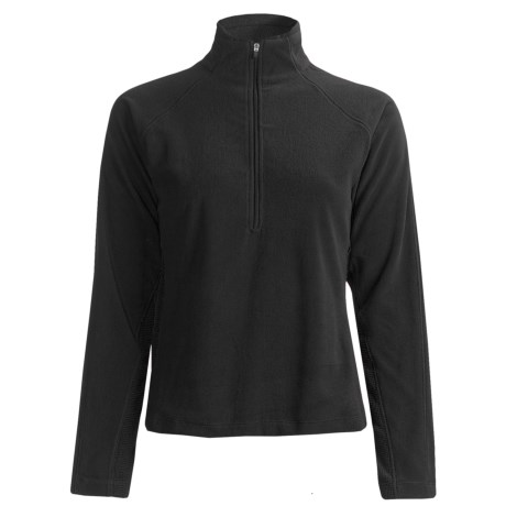 White Sierra Alpha Fleece Shirt - Long Sleeve (For Women) in Black