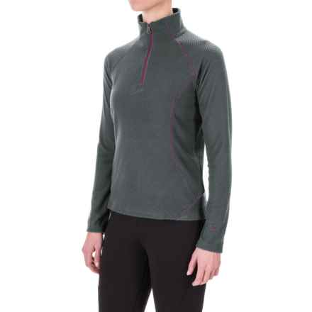 White Sierra Alpha Storm Fleece Shirt - Zip Neck, Long Sleeve (For Women) in Asphalt - Closeouts