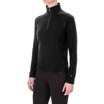 White Sierra Alpha Storm Fleece Shirt - Zip Neck, Long Sleeve (For Women) in Black - Closeouts