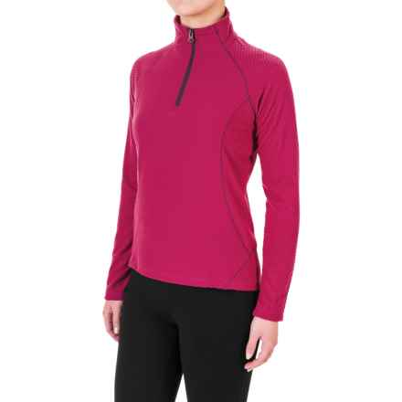 White Sierra Alpha Storm Fleece Shirt - Zip Neck, Long Sleeve (For Women) in Rosebud - Closeouts