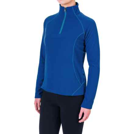 White Sierra Alpha Storm Fleece Shirt - Zip Neck, Long Sleeve (For Women) in Shield Blue - Closeouts
