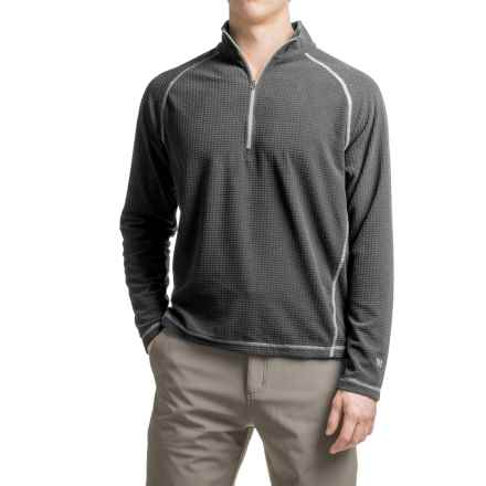 White Sierra Alpha Storm Fleece Sweatshirt - Zip Neck (For Men) in Asphalt - Closeouts