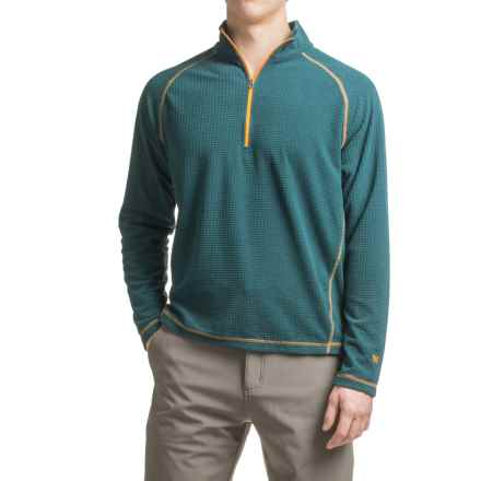 White Sierra Alpha Storm Fleece Sweatshirt - Zip Neck (For Men) in Pond - Closeouts