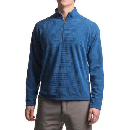 White Sierra Alpha Storm Fleece Sweatshirt - Zip Neck (For Men) in Shield Blue - Closeouts