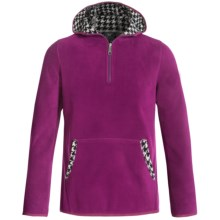 White Sierra Alpha Tek Fleece Hoodie - Zip Neck (For Little and Big Girls) in Deep Purple - Closeouts