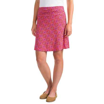 White Sierra Angier Mosaic Skirt (For Women) in Raspberry - Closeouts