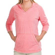 White Sierra Antique Hoodie Shirt - 3/4 Sleeve (For Women) in Coral - Closeouts