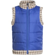 White Sierra Armor Fleece Reversible Vest (For Toddlers) in Ice Blue - Closeouts