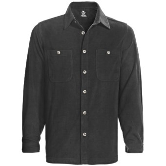White Sierra Base Camp Shirt - Fleece, Long Sleeve (For Men) in Black