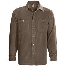 White Sierra Base Camp Shirt - Fleece, Long Sleeve (For Men) in Cigar - Closeouts