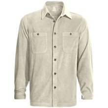 White Sierra Base Camp Shirt - Fleece, Long Sleeve (For Men) in Stone - Closeouts