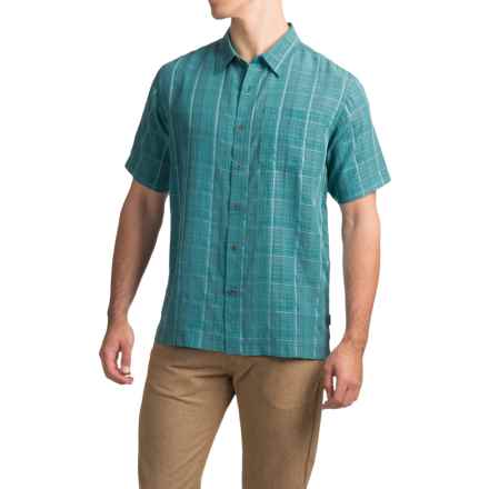 White Sierra Batista Plaid Shirt - Short Sleeve (For Men) in Ocean - Closeouts
