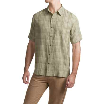 White Sierra Batista Plaid Shirt - Short Sleeve (For Men) in Sand - Closeouts