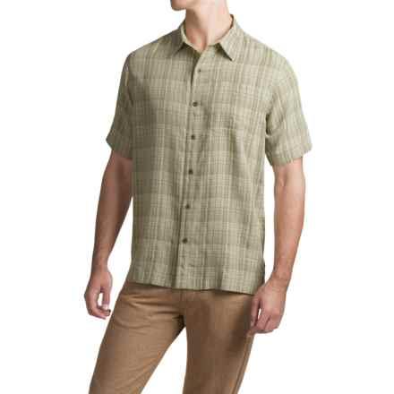 White Sierra Batista Plaid Shirt - Short Sleeve (For Men) in Sand - Closeouts