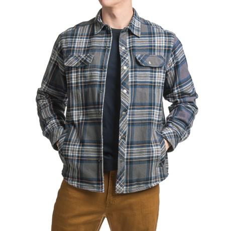 White Sierra Baz Az Plaid Shirt Jacket - Fleece Lined (For Men) in Asphalt