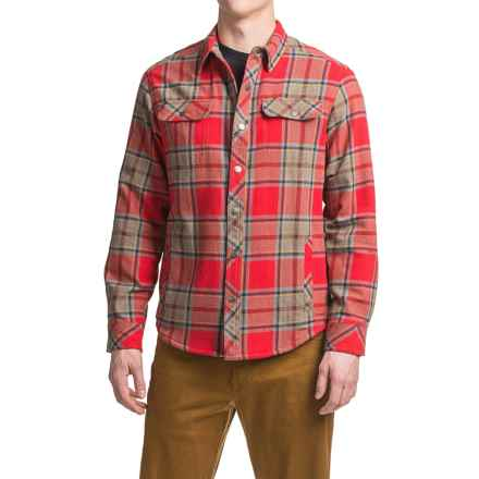 White Sierra Baz Az Plaid Shirt Jacket - Fleece Lined (For Men) in Formula One - Closeouts