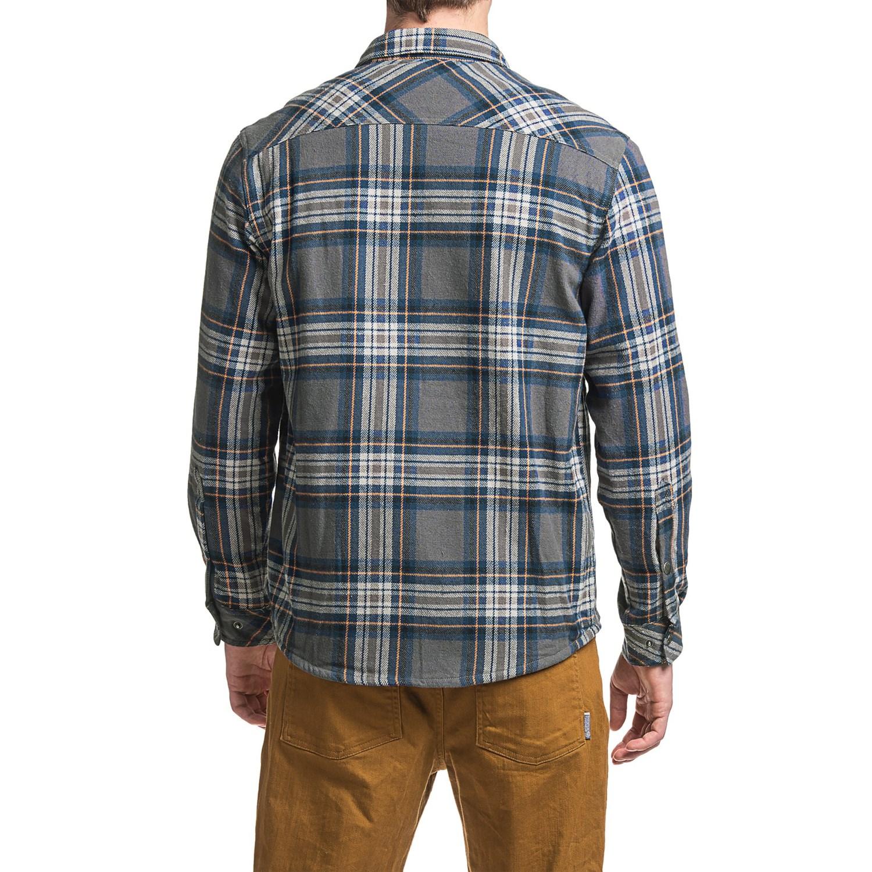 White sierra baz az plaid shirt jacket for men save 77 for Plaid shirt jacket mens