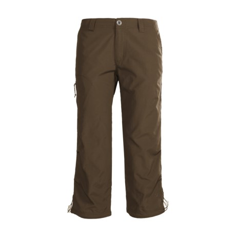 White Sierra Bent Creek Capris - UPF 30 (For Women) in Breen