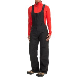 White Sierra Bib Overalls - Waterproof, Insulated (For Women) in Black