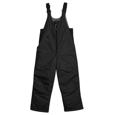 White Sierra Bib Snowsuit - Insulated (For Little and Big Kids) in Black