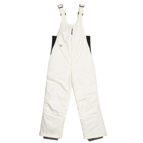 White Sierra Bib Snowsuit - Insulated (For Little and Big Kids) in Milky White