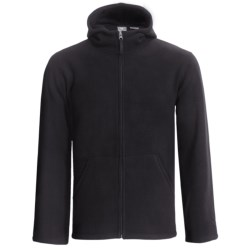 White Sierra Big Meadow Fleece Hoodie Sweatshirt - Full Zip (For Men) in Black