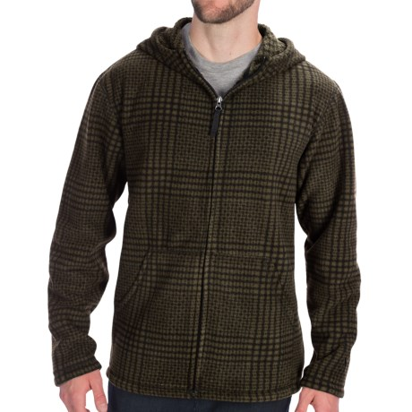 White Sierra Big Meadow Fleece Hoodie Sweatshirt - Full Zip (For Men) in Moss