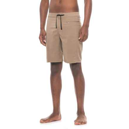 White Sierra Big Surf Boardshorts (For Men) in Bark - Closeouts