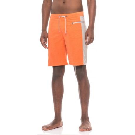 White Sierra Big Surf Boardshorts (For Men) in Burnt Orange