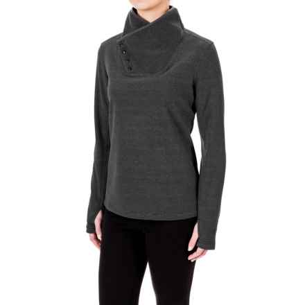 White Sierra Blacktail Fleece Shirt - Snap Neck, Long Sleeve (For Women) in Black - Closeouts