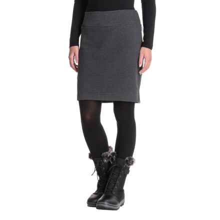 White Sierra Blacktail Fleece Skirt (For Women) in Black - Closeouts