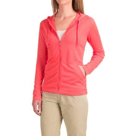 White Sierra Bug-Free Hoodie - UPF 30+, Zip Front (For Women) in Watermelon - Closeouts