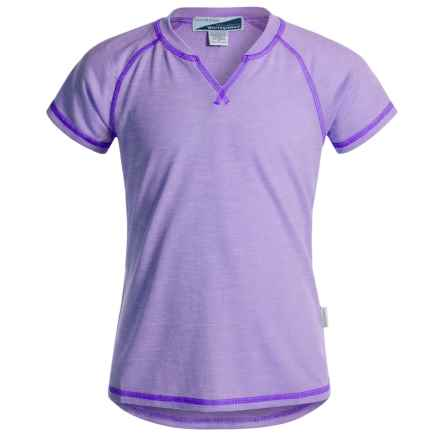 White Sierra Bug-Free Insect Shield® Notch T-Shirt - Short Sleeve (For Little and Big Girls) in Lavender - Closeouts