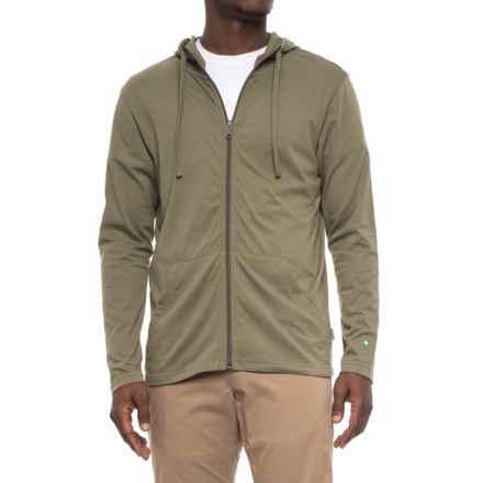 White Sierra Bug-Free Jersey Hoodie - UPF 30 (For Men) in Deep Lichen Green - Closeouts