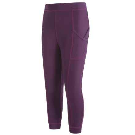 White Sierra Bug Free Leggings (For Little and Big Girls) in Shadow Purple - Closeouts