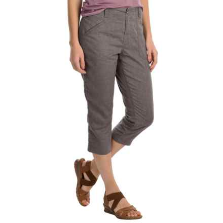 White Sierra Canyon Capris - Hemp (For Women) in Light Charcoal - Closeouts