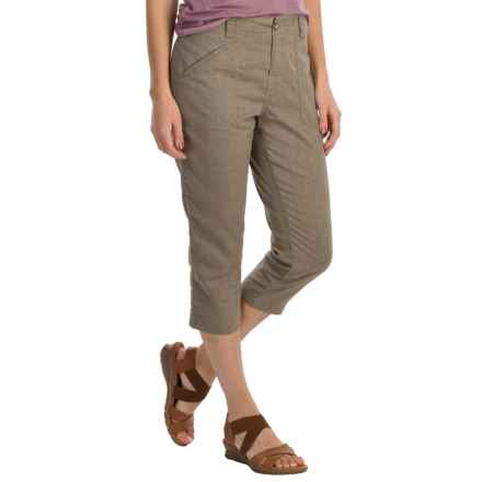 White Sierra Canyon Capris - Hemp (For Women) in Taupe - Closeouts