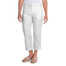 White Sierra Canyon Cargo Capris (For Women) in White - Closeouts