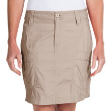 White Sierra Canyon Cargo Skirt (For Women) in Stone - Closeouts