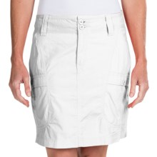 White Sierra Canyon Cargo Skirt (For Women) in White - Closeouts