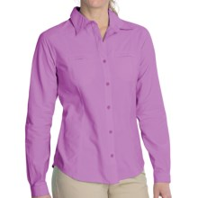 White Sierra Canyon Crest Shirt - UPF 30, Long Roll-Up Sleeve (For Women) in Sheer Lilac - Closeouts