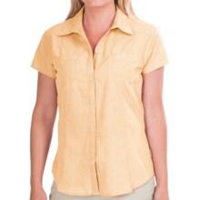White Sierra Canyon Crest Shirt - UPF 30, Short Sleeve (For Women) in Gdh Golden Haze - Closeouts