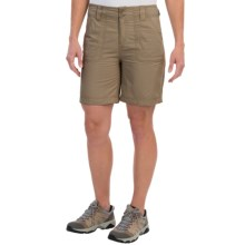 White Sierra Canyon Shorts (For Women) in Bark - Closeouts