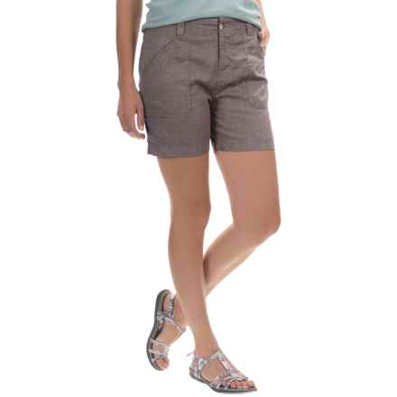 White Sierra Canyon Shorts (For Women) in Light Charcoal - Closeouts